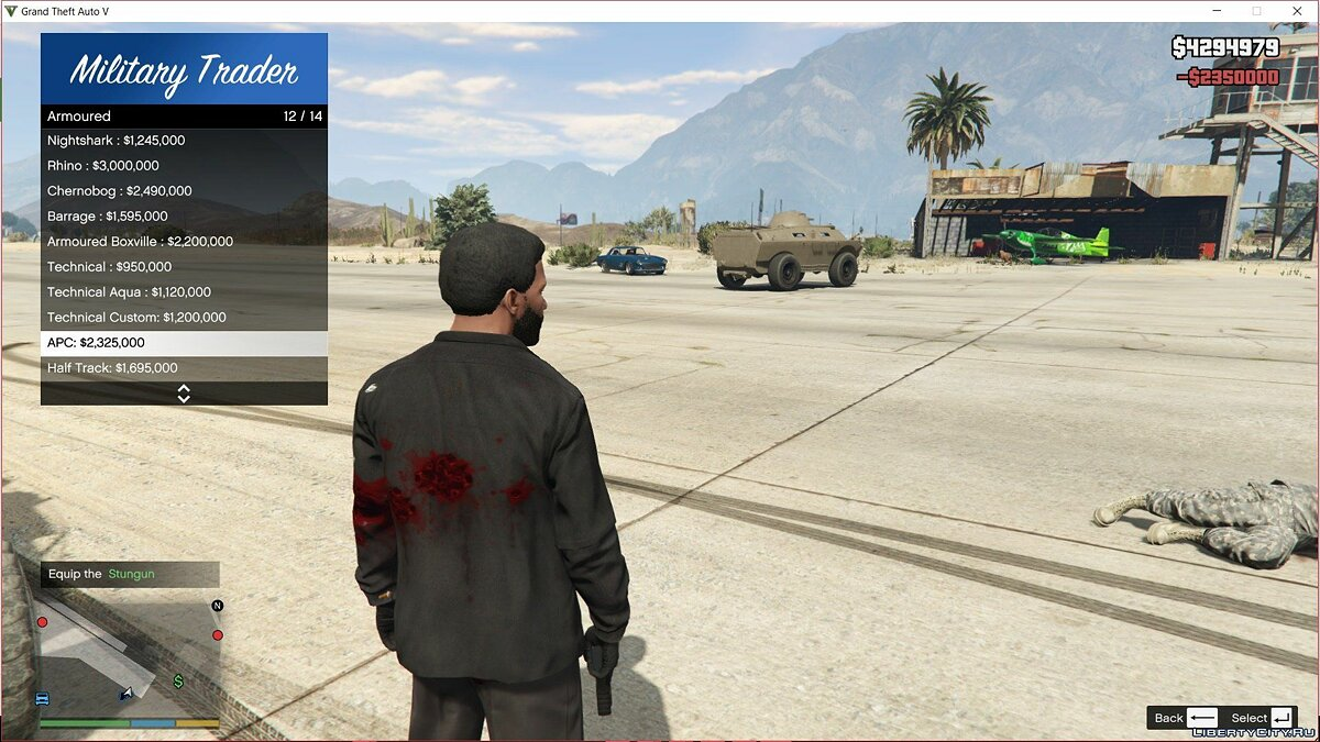 Script mod Weapon / Vehicle Trader 1.0 for GTA 5