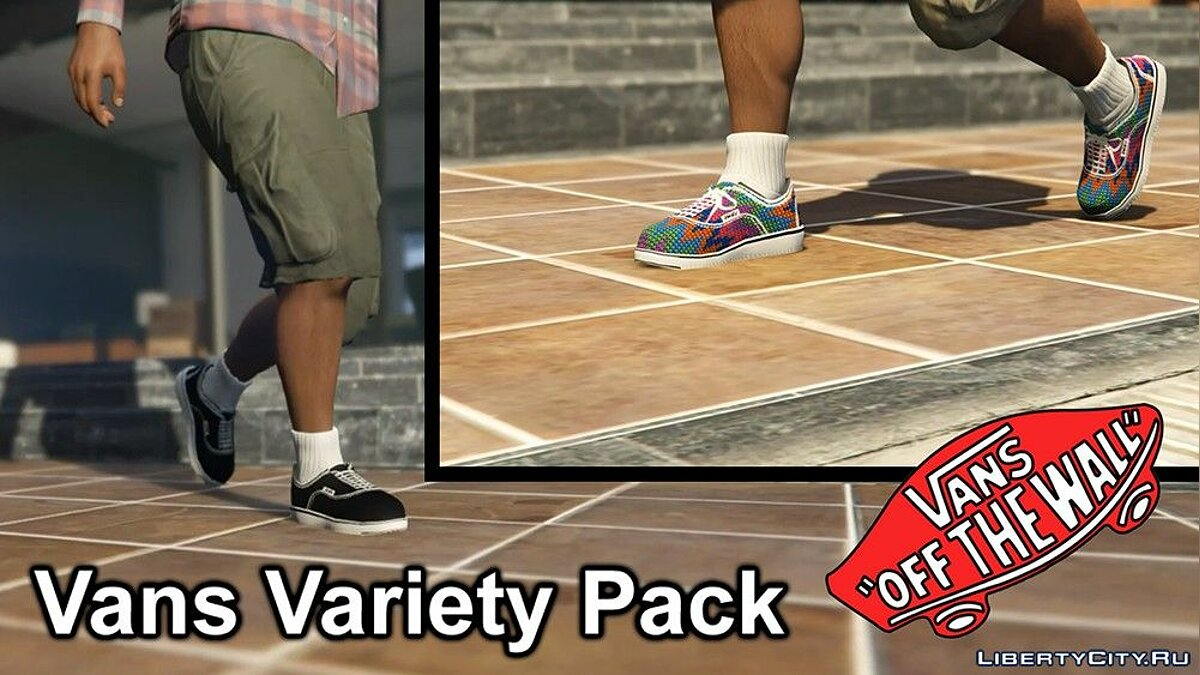 Skin packs A small pack of Vans Era brand shoes for GTA 5
