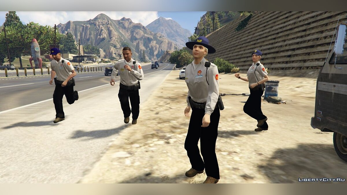 Skin packs Taiwan National park police 1.0 - Pak Taiwanese police for GTA 5