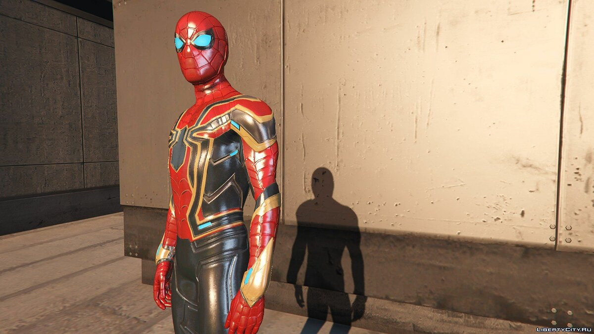 Collection of Spider-Man skins from the game on the PS4 (Metal update) for GTA 5