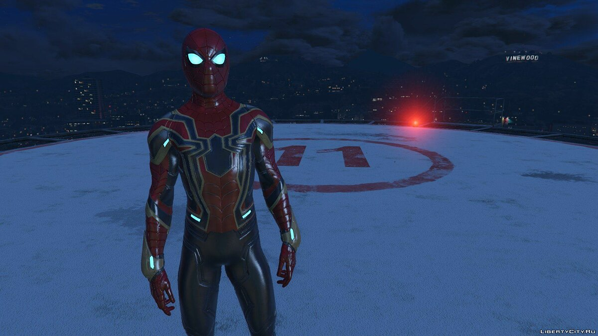 Collection of Spider-Man skins from the game on the PS4 (Metal update) for GTA 5 - screenshot #3