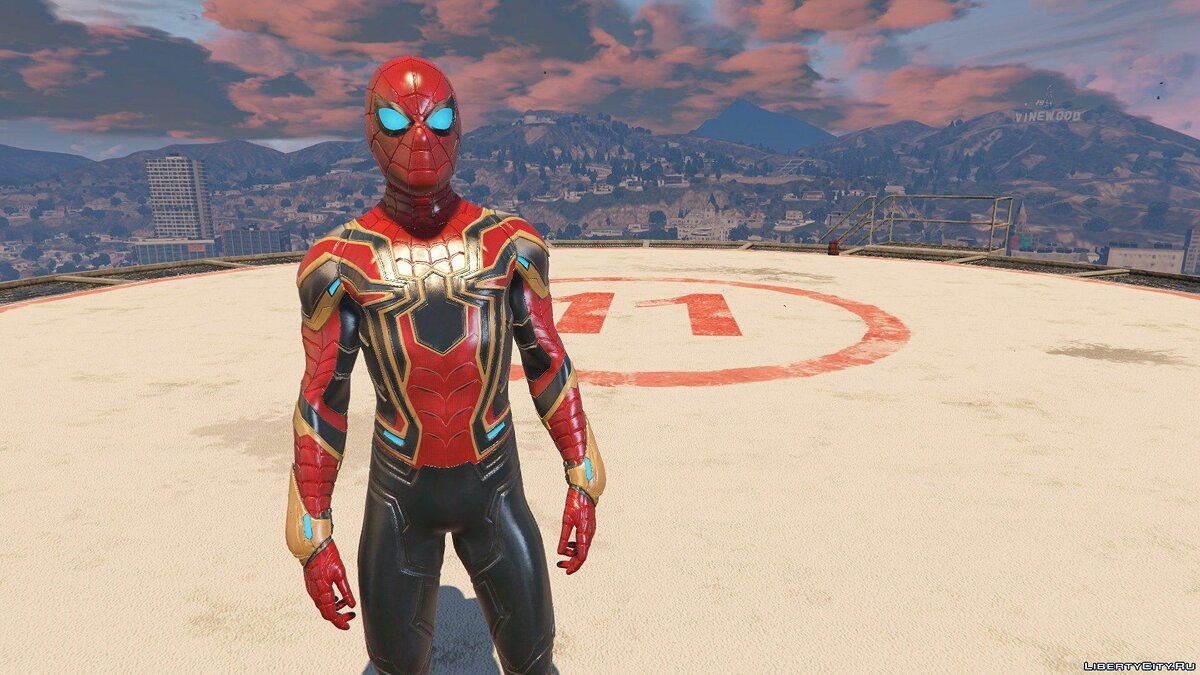 Collection of Spider-Man skins from the game on the PS4 (Metal update) for GTA 5 - screenshot #2