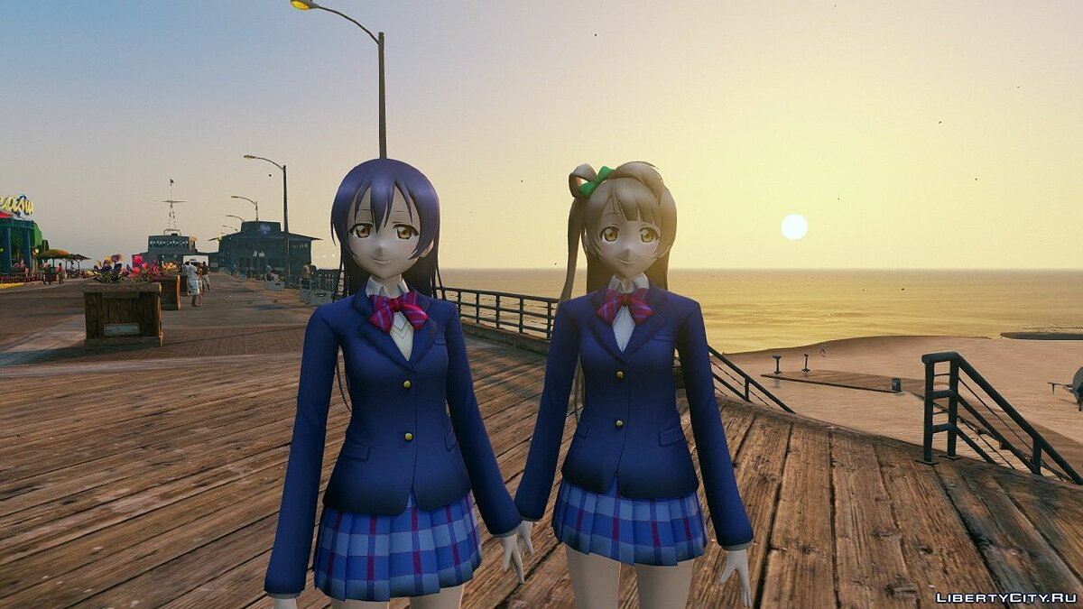 Skin packs Character Collection from the anime Love Live for GTA 5