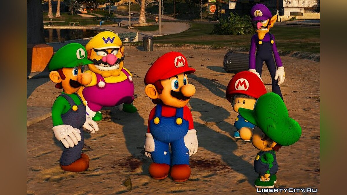 Skin packs Super Mario Plumbers [Add-On Ped] 1.0 - Super Mario and His Friends for GTA 5