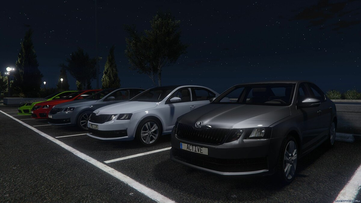 Skoda car Skoda Octavia Ambition / Active / Style / VRS [HQ | Add-On | Tuning] for GTA 5
