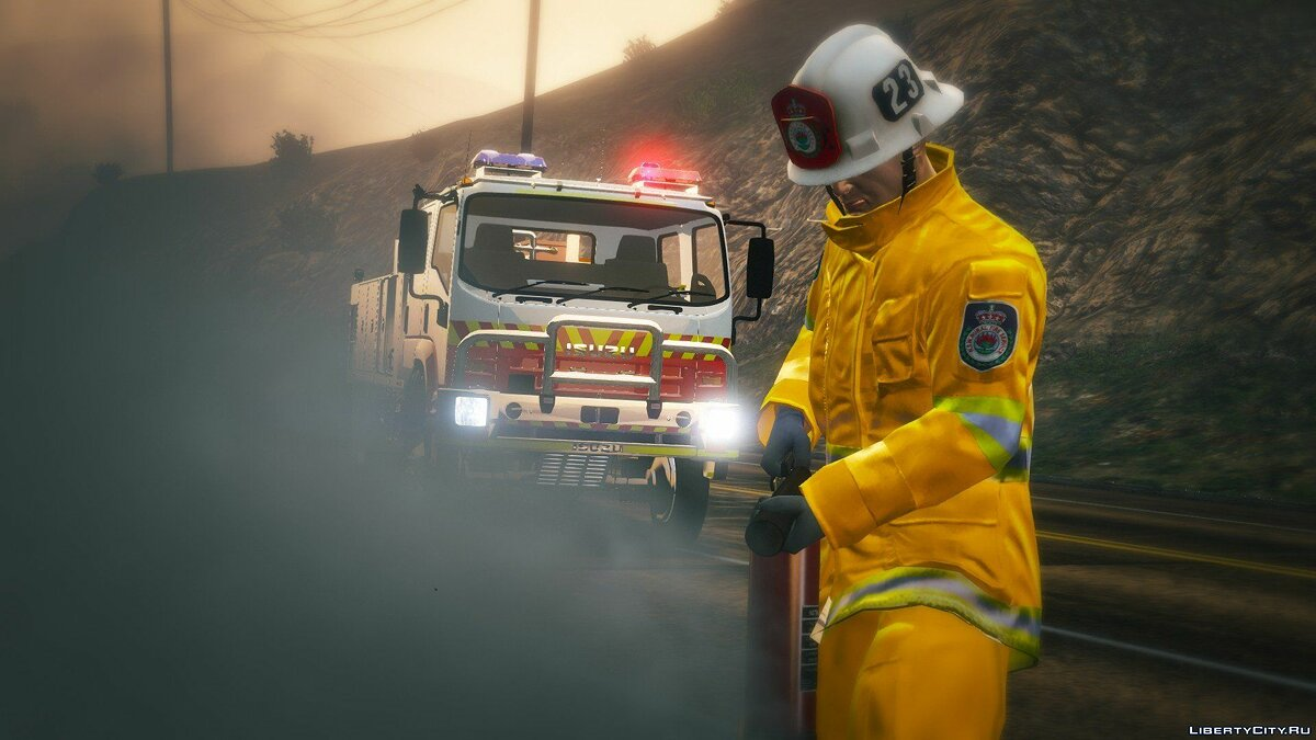 Skin Real firefighters uniform for GTA 5