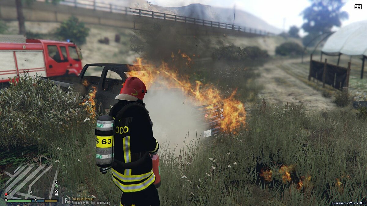 Skin Firefighters from the Vigil del Fuoco Division for GTA 5