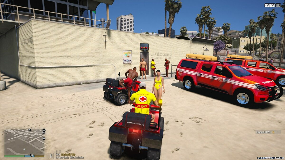 Skin New form for lifeguards on the beach + ATV for GTA 5