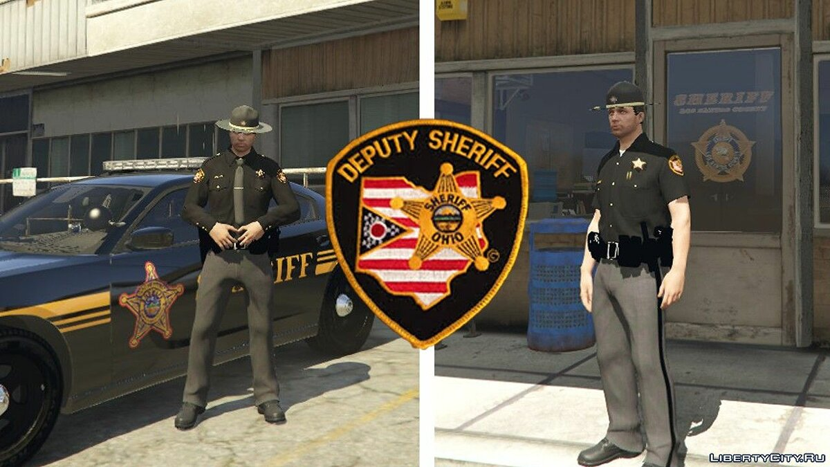 Skin Ohio Sheriff Uniform [EUP] 1.0 - Uniform of the American Police for GTA 5