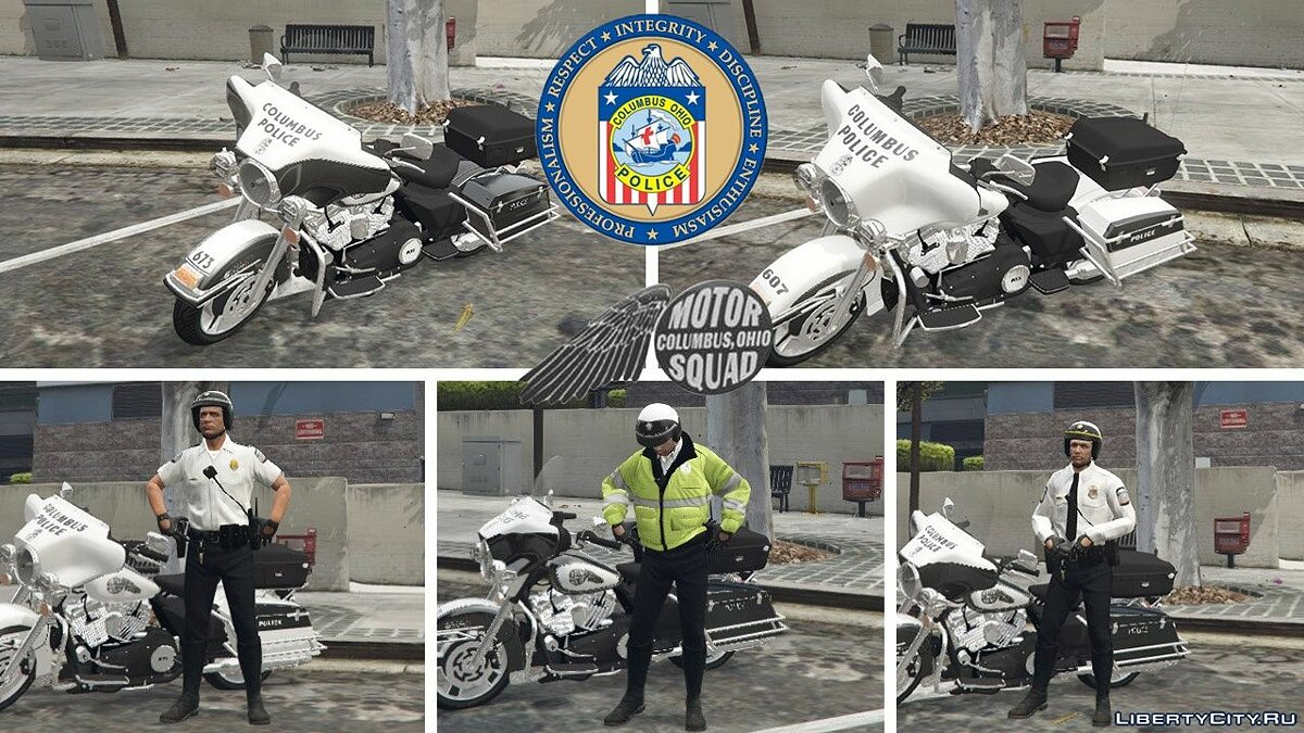 Skin Columbus Police Motor Unit Uniforms and Textures 1.0 - a form of police motorcyclist for GTA 5