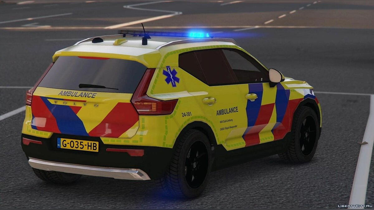 Special Vehicle Volvo XC40 Ambulance [Replace / ELS] for GTA 5