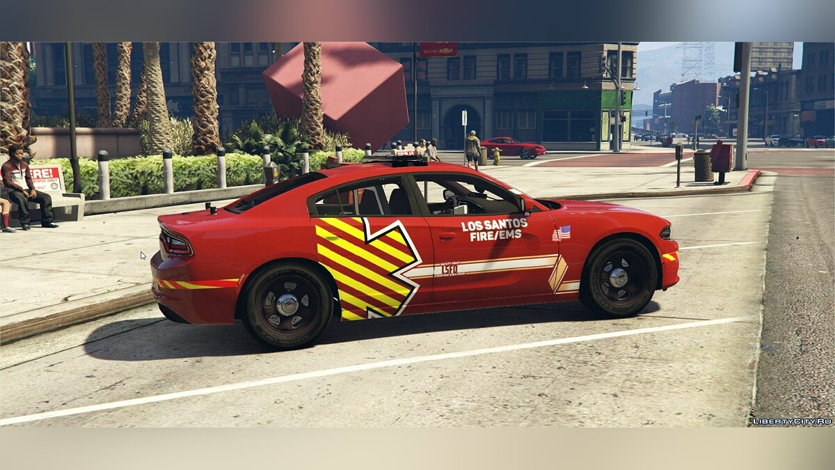 Special Vehicle Dodge Charger RT - Fire Service Vehicle for GTA 5