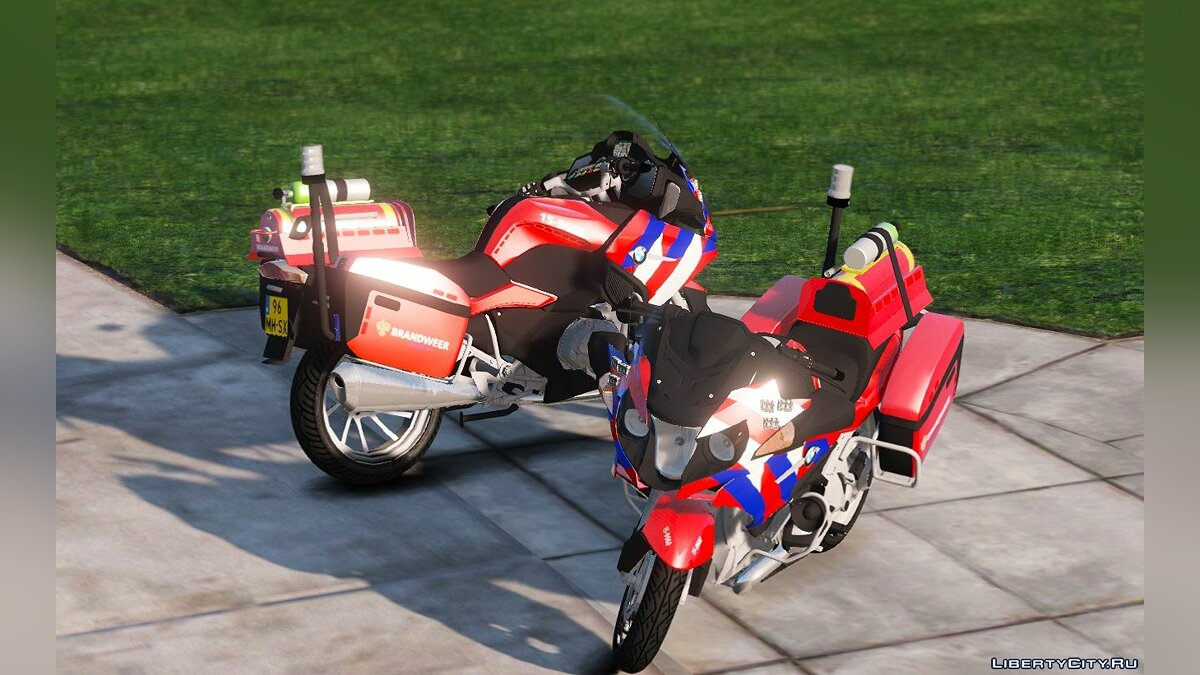 Special Vehicle BMW 1200RT - Fire Service for GTA 5
