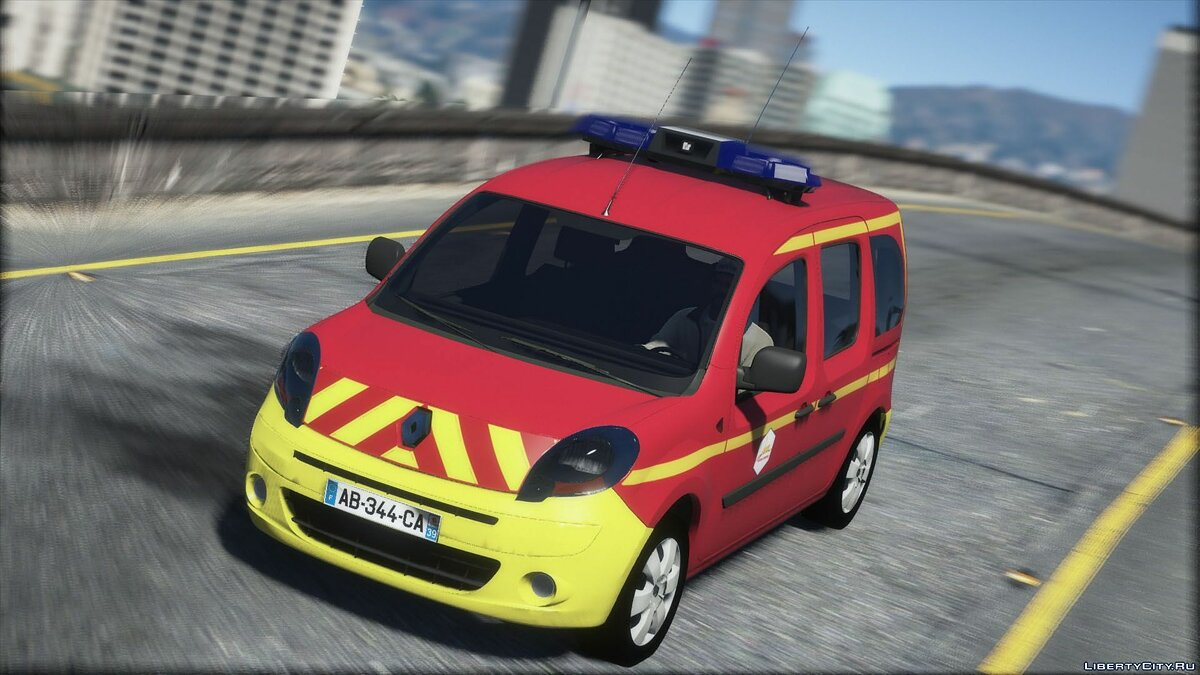 Special Vehicle Renault Kangoo 2010 - Fire Service of France for GTA 5