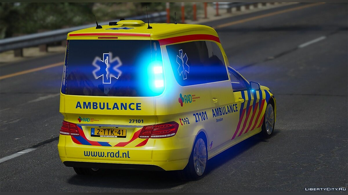 Special Vehicle Mercedes Benz E-Class - Ambulance for GTA 5
