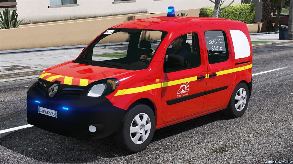 Special Vehicle Renault Kangoo 2014 VLS Sapeurs-Pompiers - Fire Service of France for GTA 5