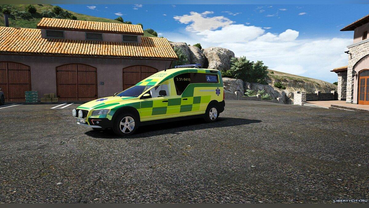 Special Vehicle 2016 Volvo XC70 Nilsson - Ambulance for GTA 5