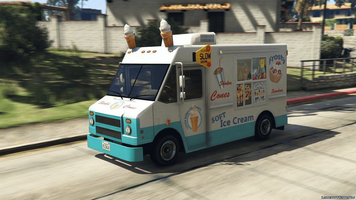 Special Vehicle IceCream Truck (Add-on / Replace) - Ice Cream Van for GTA 5