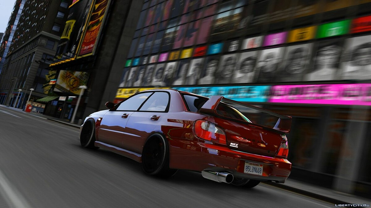 Subaru car Subaru STI 7 v1.3 for GTA 5