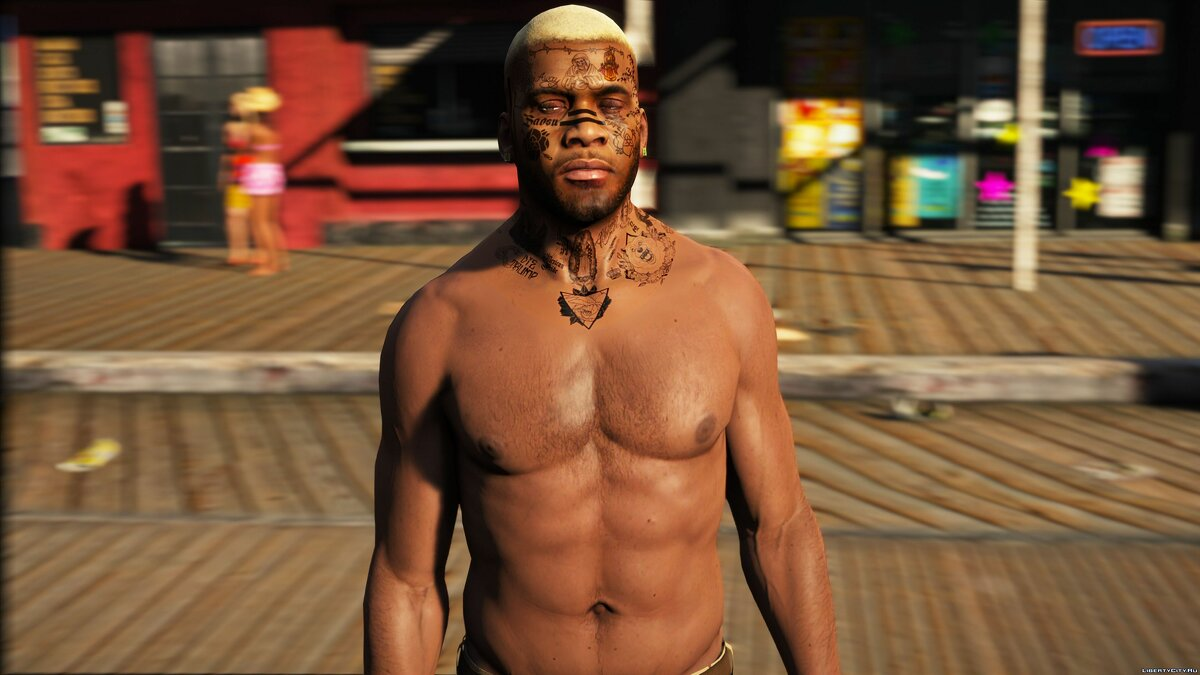 Tattoos HD tattoos for Franklin's face for GTA 5