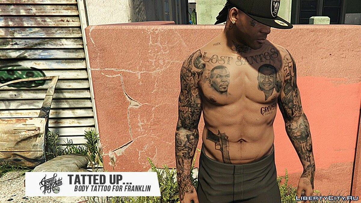 Tattoos New tattoos for Franklin for GTA 5