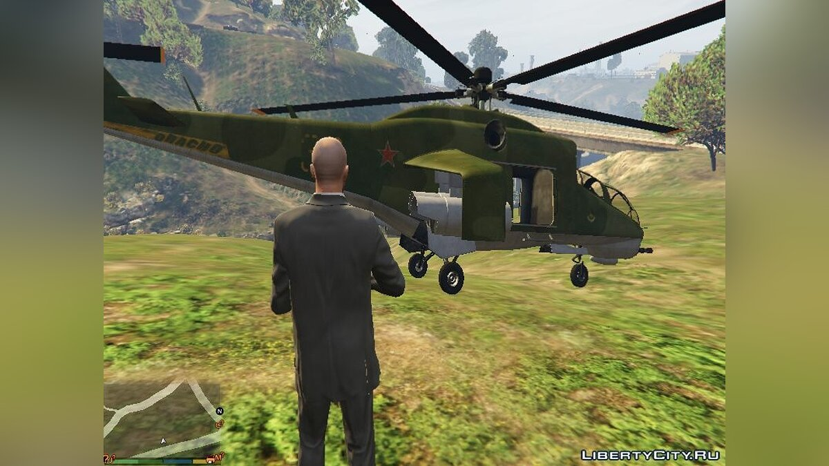 """Russian Mi-24"" texture for Savage for GTA 5 - Картинка #1"