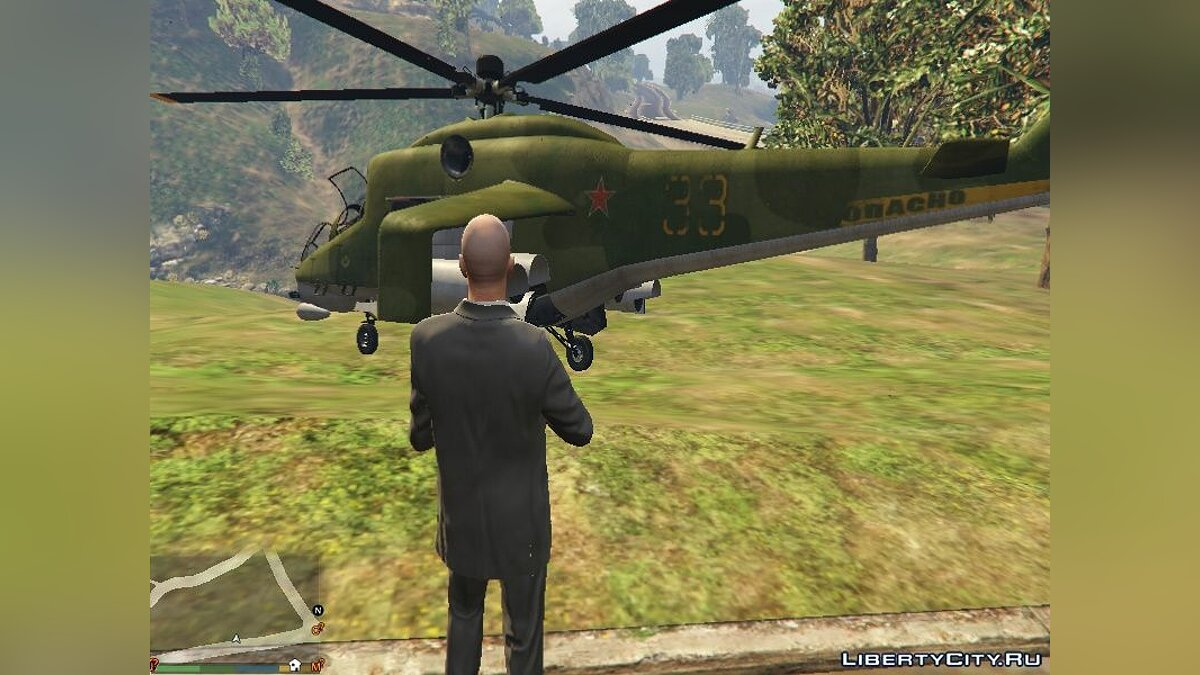 """Russian Mi-24"" texture for Savage for GTA 5 - Картинка #2"