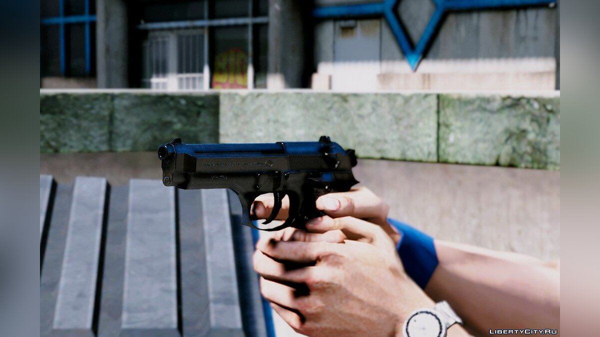 Texture mod Improved textures for the Beretta 92F for GTA 5
