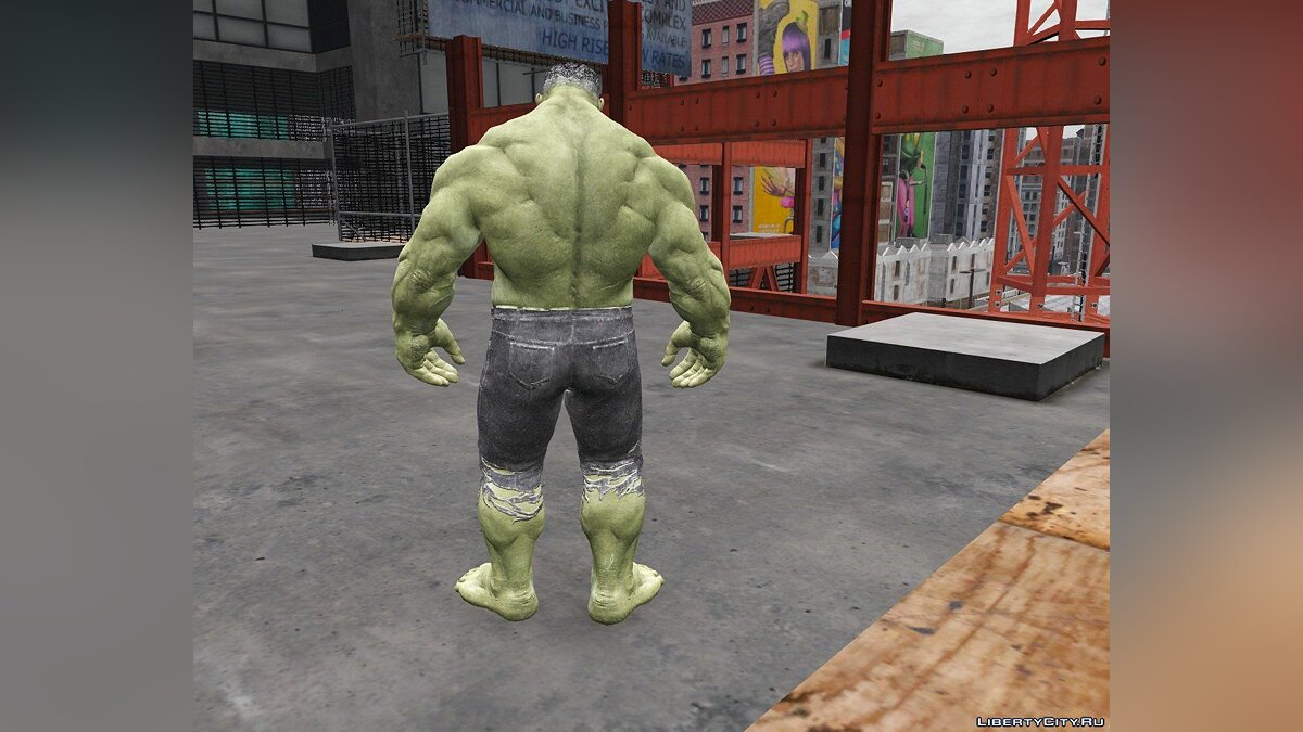 Texture mod Hulk (retexture) for GTA 5