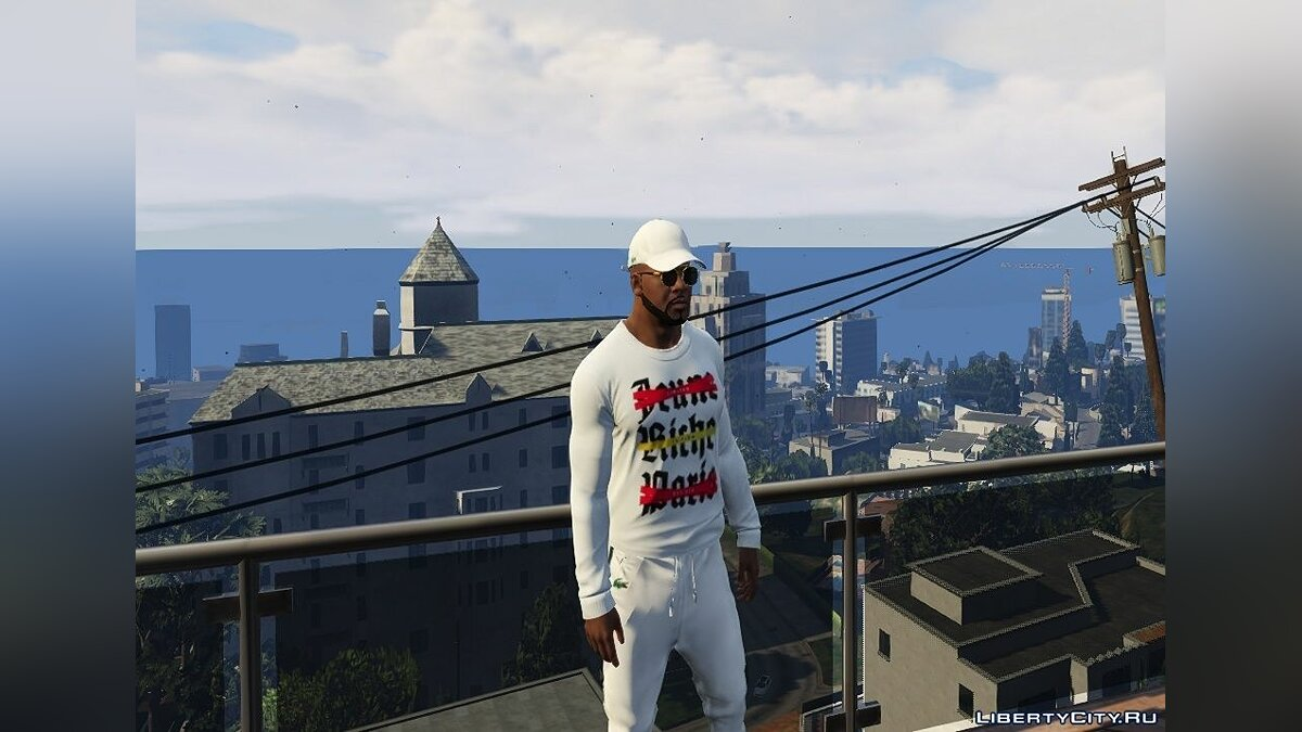 Texture mod JEUNE RICHE PARIS Sweater for Franklin 1.0 for GTA 5