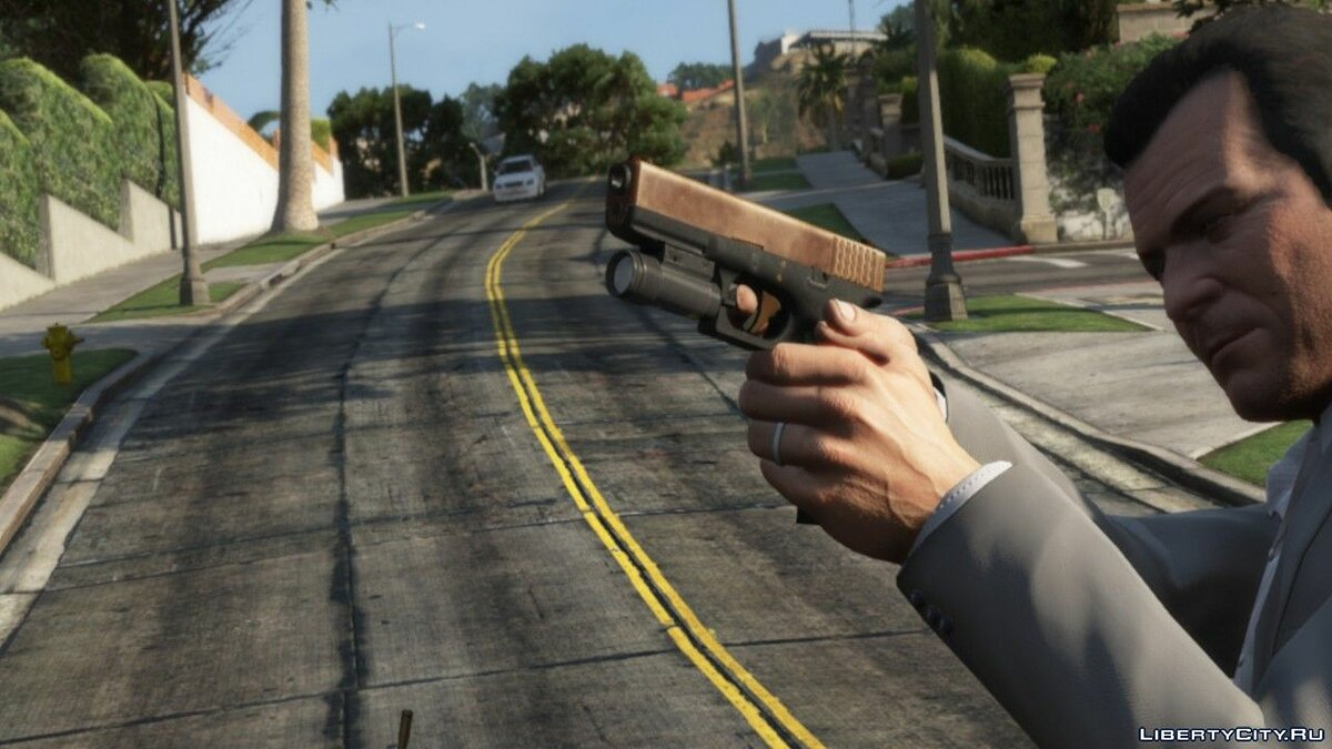 Texture mod Textures for Glock 17 from the game PAYDAY 2 for GTA 5