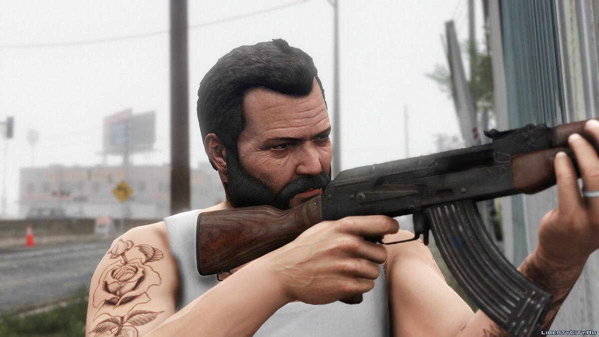 Texture mod Michael is slowly getting older 0.9 for GTA 5