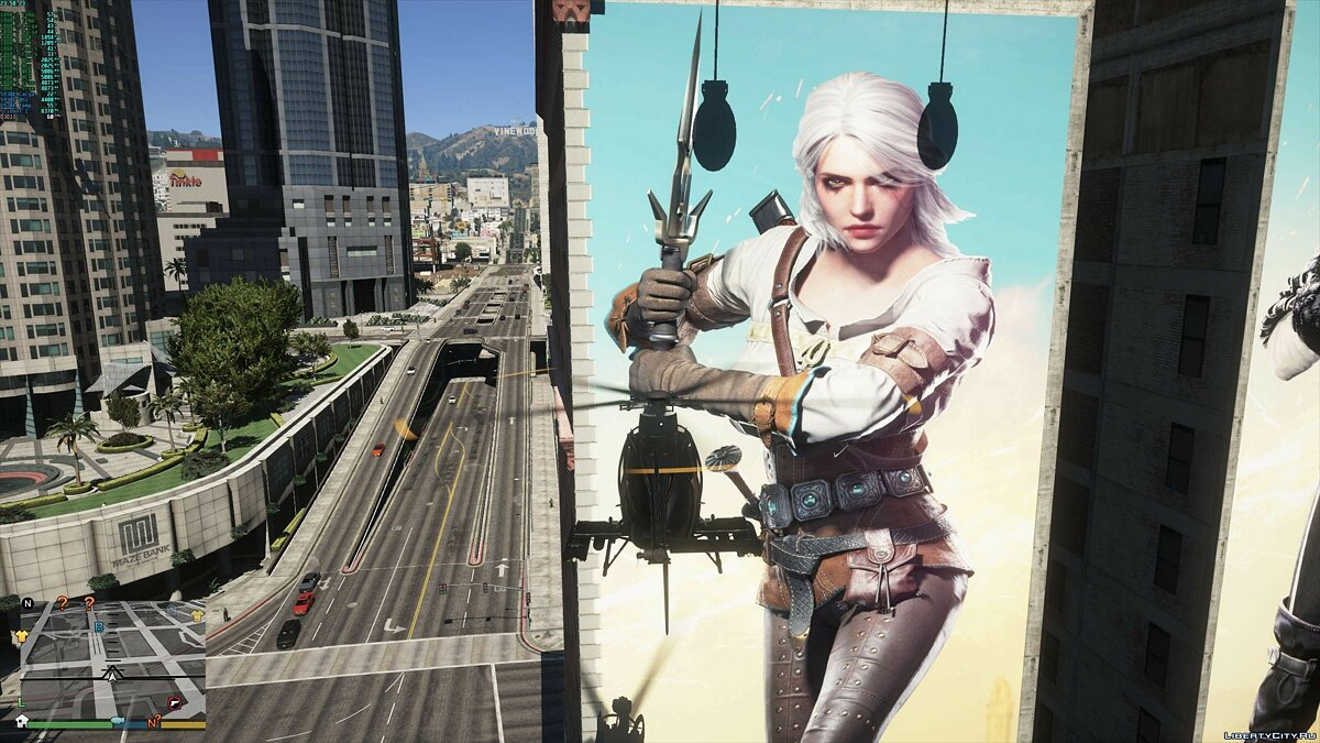 Texture mod Big Billboard Witcher 3 - New Posters On Homes for GTA 5