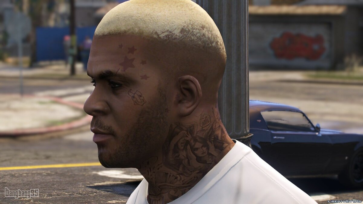 Texture mod New face for franklin for GTA 5
