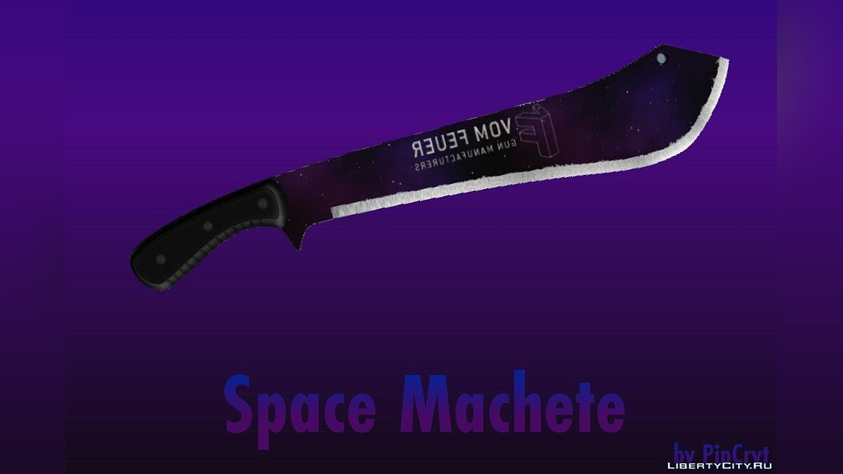 Texture mod Green and Standard Space Machete 1.0 for GTA 5