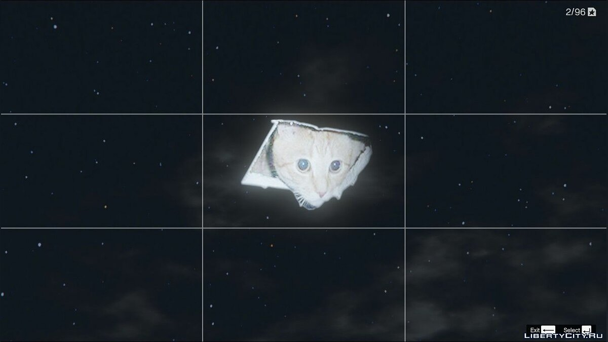 Texture mod Ceiling Cat Moon [HD] 2.0 - Kitty instead of the moon for GTA 5