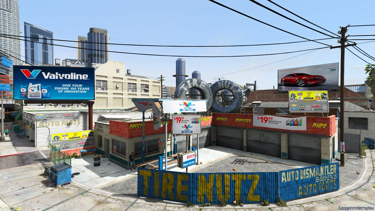 Texture mod Real Stores for GTA 5
