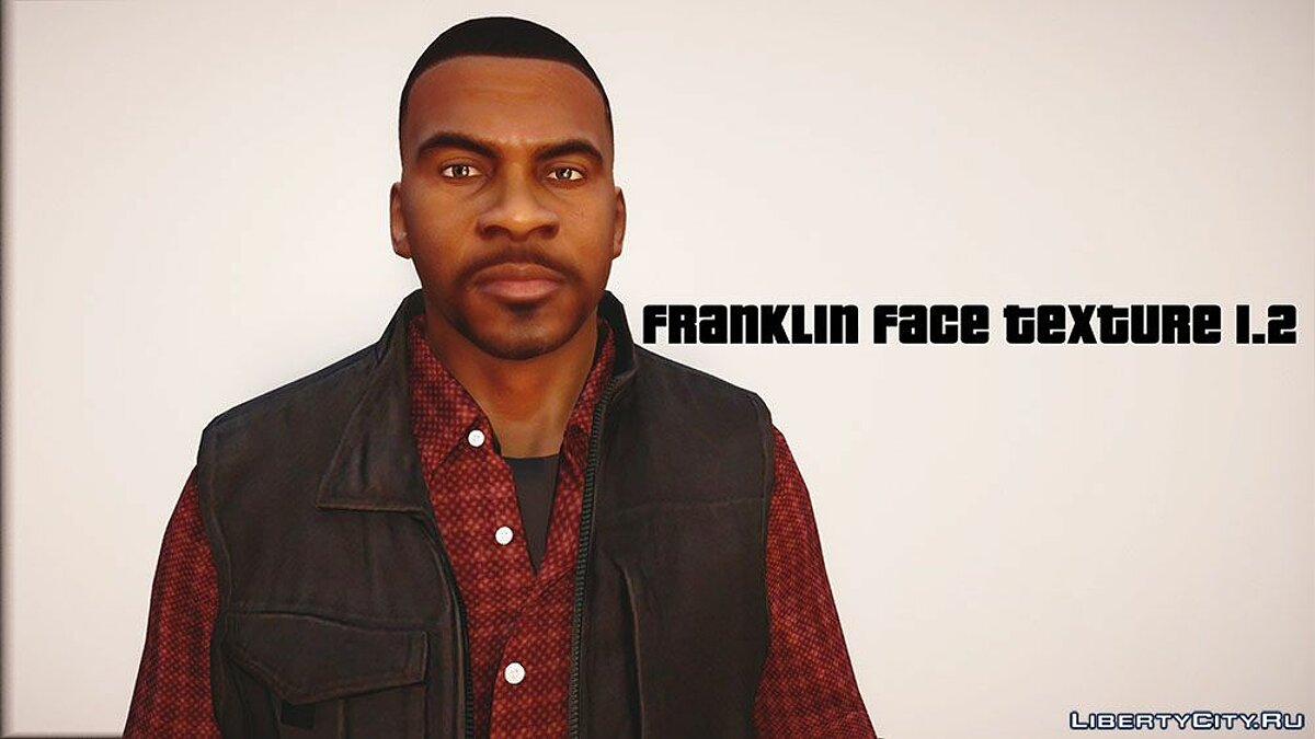Texture mod New face textures for Franklin for GTA 5