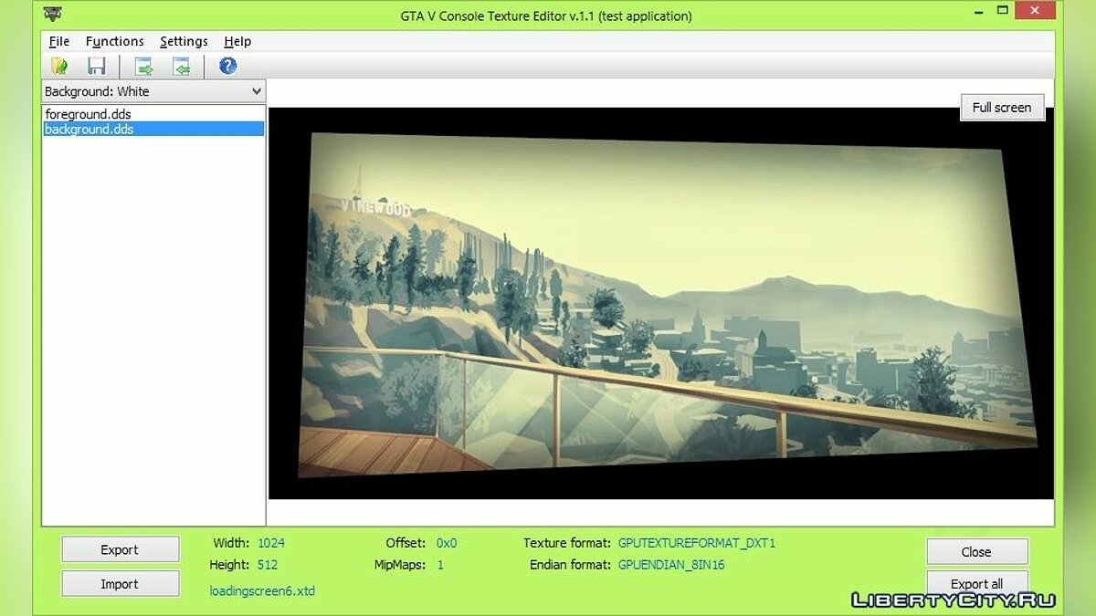 GTA V Console Texture Editor 1.1 beta for GTA 5 - screenshot #3