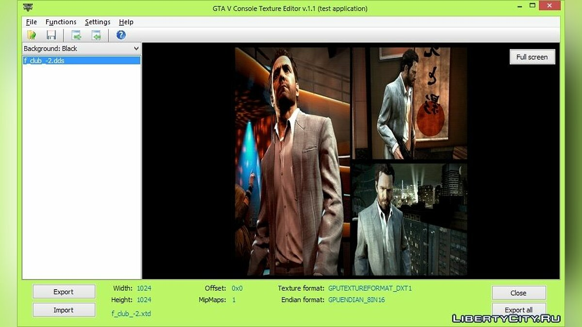GTA V Console Texture Editor 1.1 beta for GTA 5 - screenshot #2