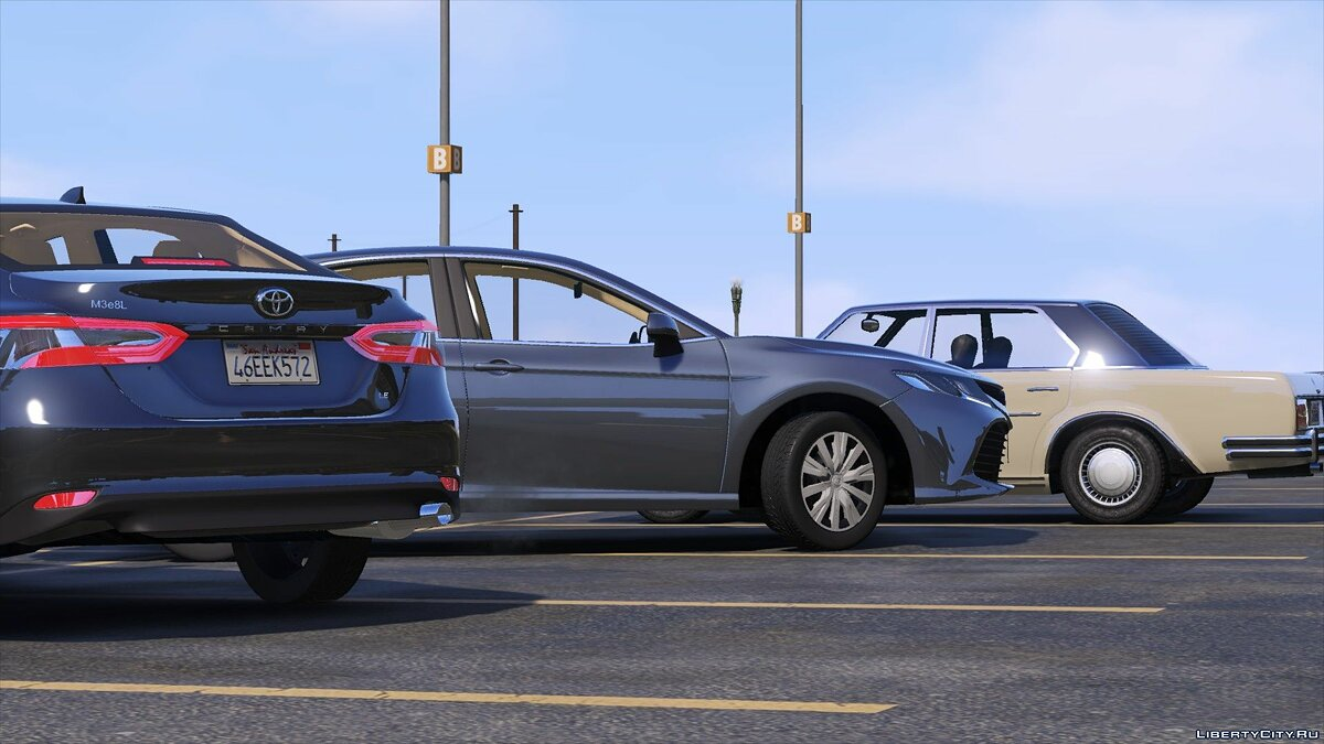 Toyota car Toyota Camry 2019 LE 1.0 for GTA 5