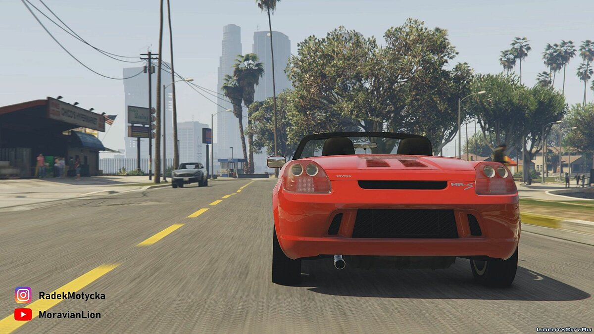 Toyota car Toyota MR-S '02 [Add-On | Tuning | Animated roof | LODS | Template | SOUND] 2.0 for GTA 5