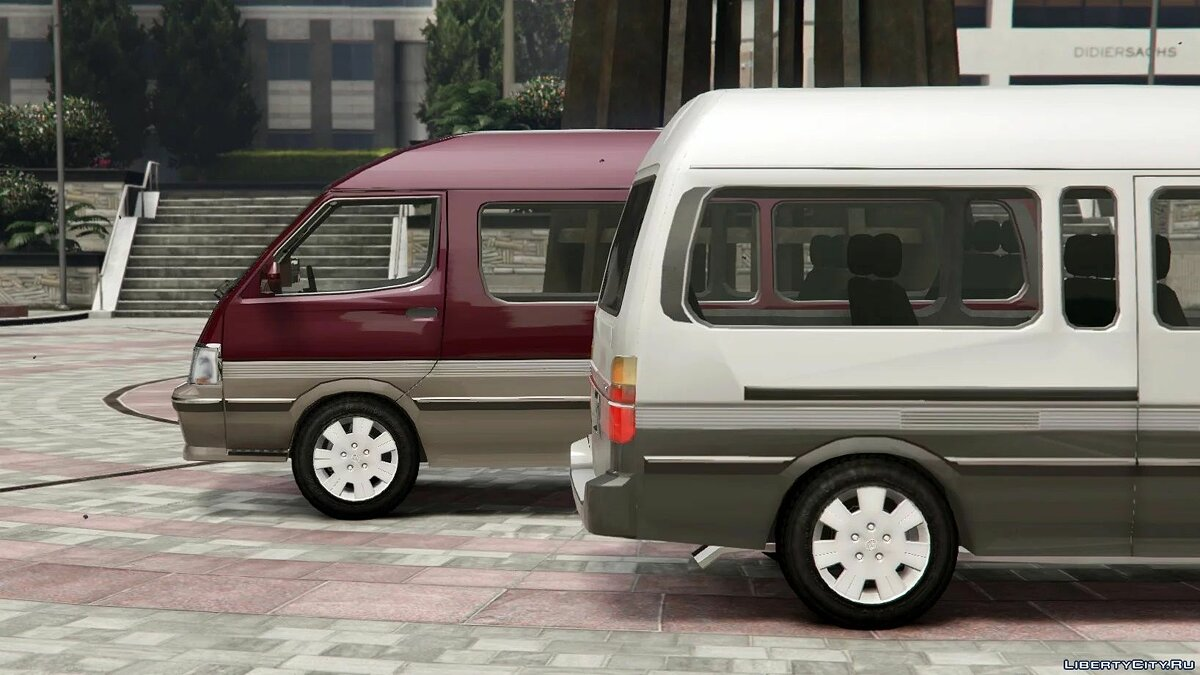 Toyota car 1994 Toyota HiAce Super Custom [Add-On | Replace | Template] 1.1 for GTA 5