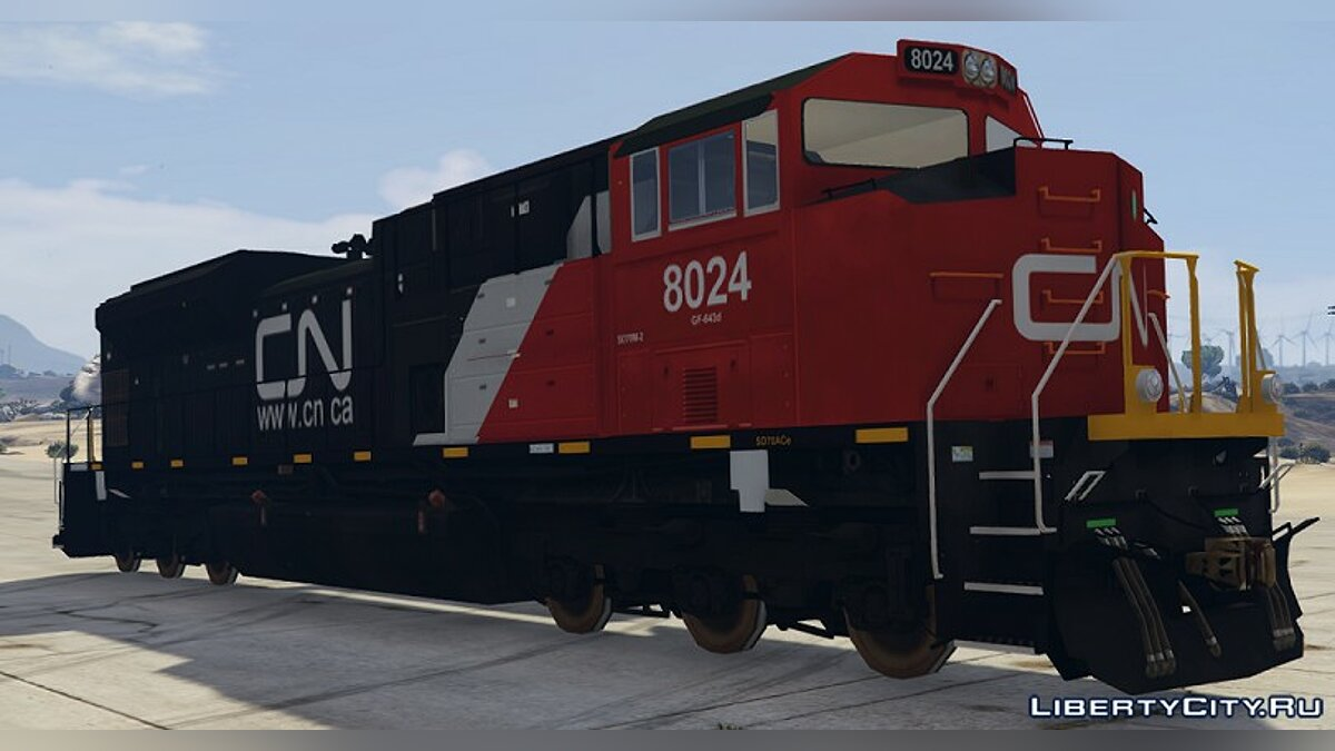 Train and tram Locomotive SD70ACe for GTA 5