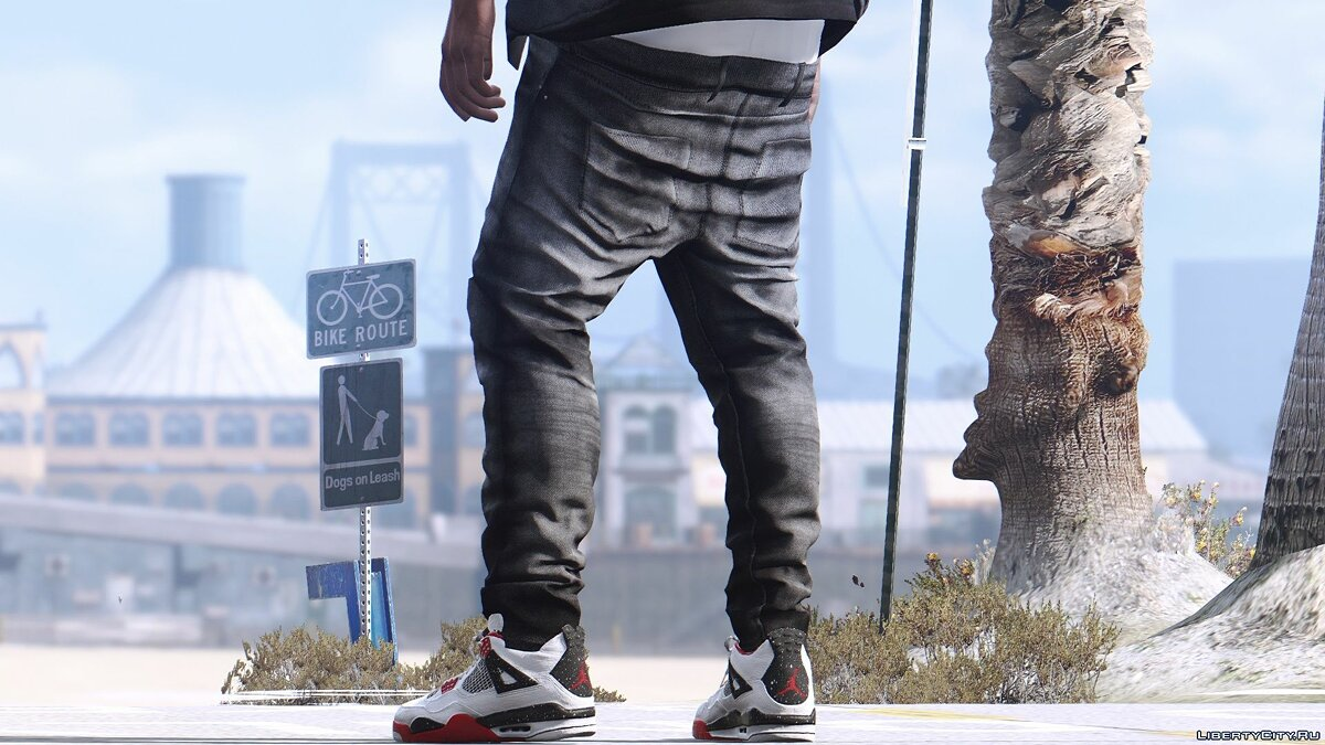 Pants and shorts [HQ 2K] Jeans with shoes for Franklin (Supreme, Gucci, CK) for GTA 5