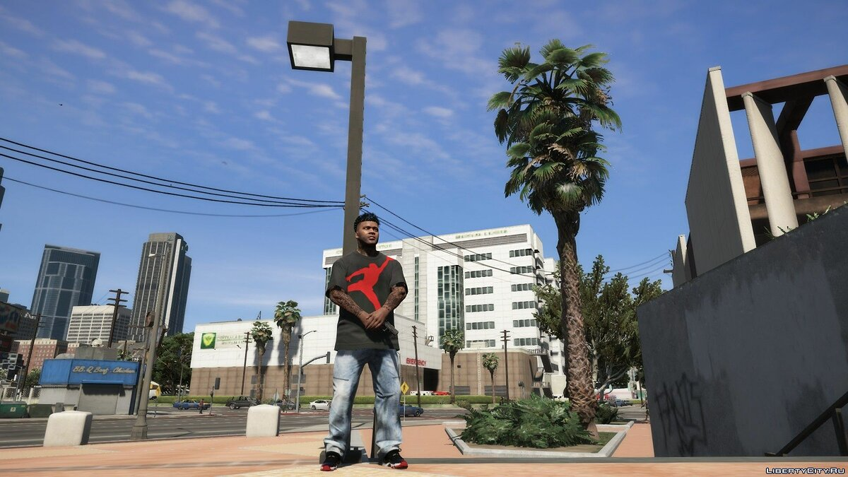 Pants and shorts Jeans with locks for Franklin for GTA 5