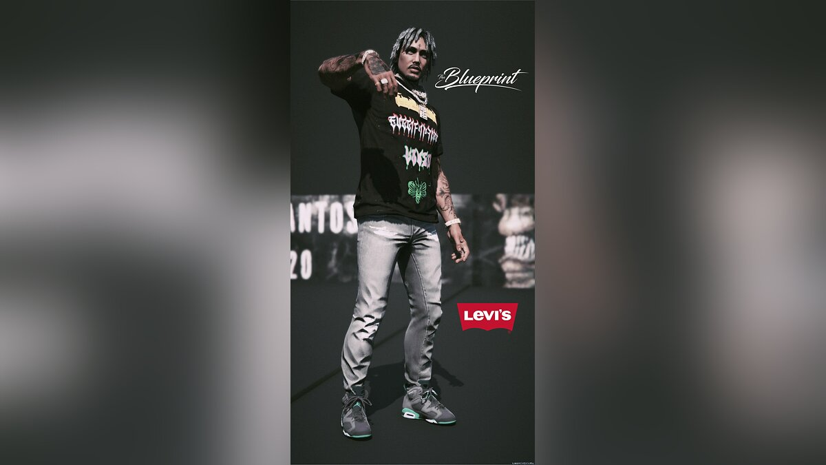 Pants and shorts LEVI jeans for GTA 5