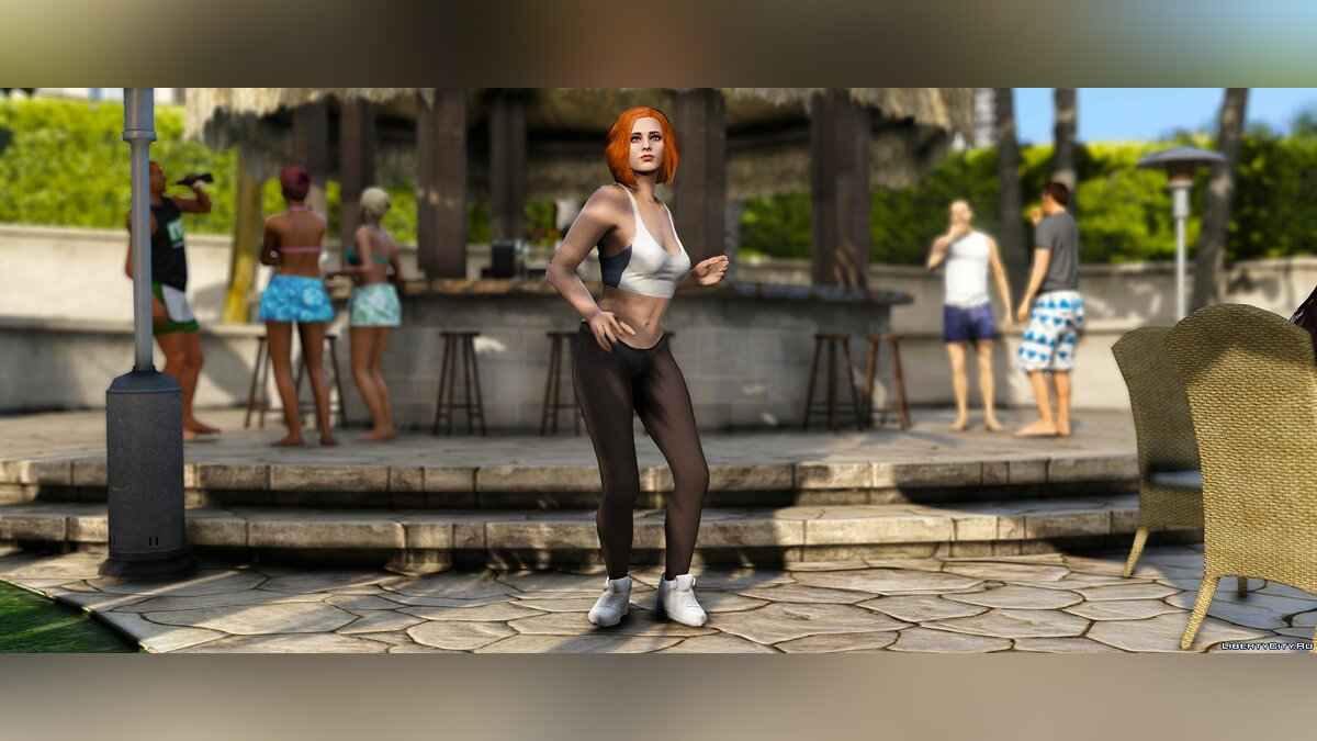 Pants and shorts Pantyhose for MP Female (+ Matching shoes) for GTA 5