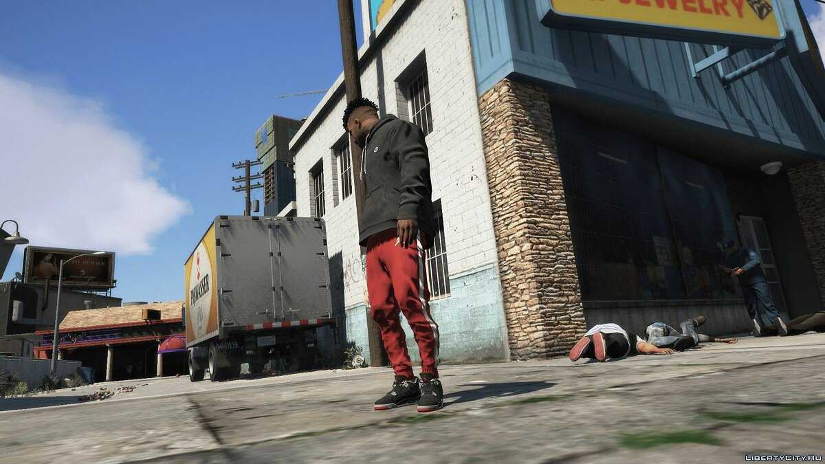 Pants and shorts Striped joggers from Jordan for GTA 5