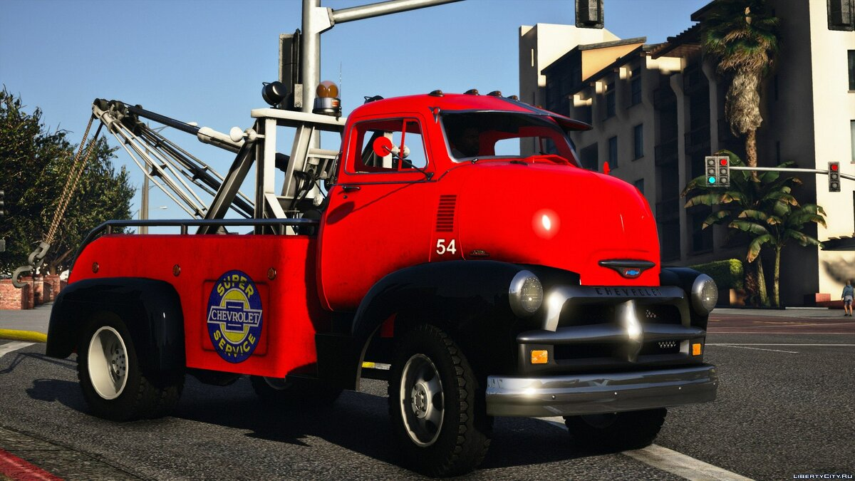 Truck Chevrolet 5400 COE Towtruck 1954 [Add-On | LODs | Extras | Template] 1.0 for GTA 5